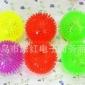 批发大号闪光捏叫发光球 按摩球 地摊玩具夜市发光会叫闪光弹力球